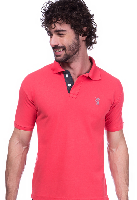 Camisa Gola Polo Sergio K Rosa