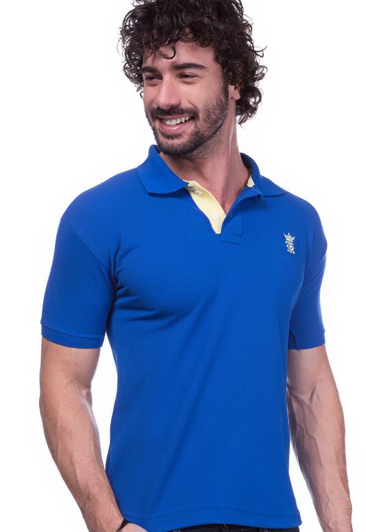 Camisa Gola Polo Sergio K Azul