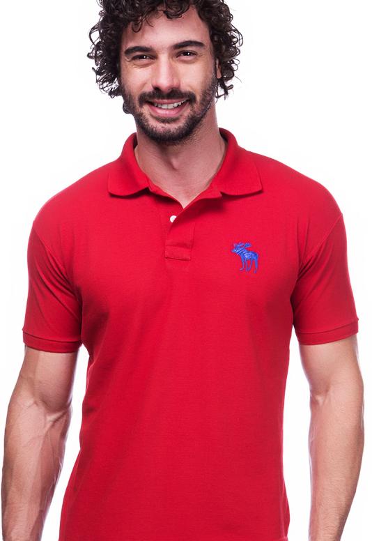 Camisa Polo Abercrombie Vermelha | Oferta