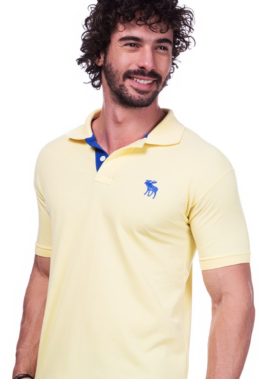 Camisa Polo Abercrombie Amarela | Oferta