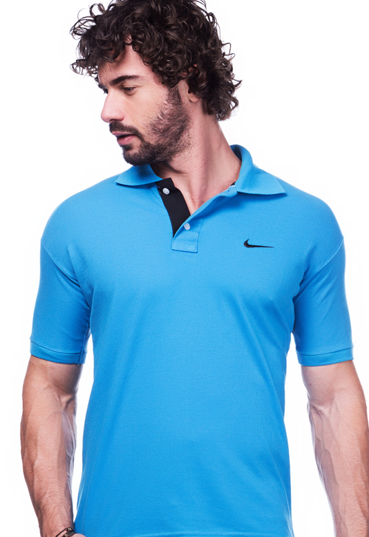 Camisa Gola Polo Nike Azul