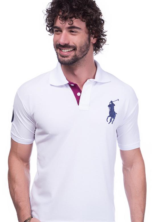 Camisa Gola Polo Ralph Lauren Branca