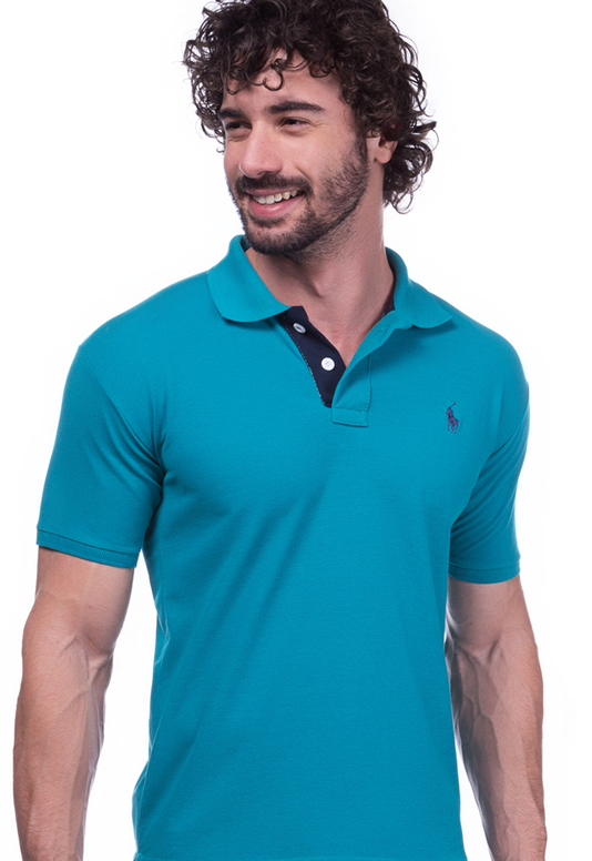 Camisa Gola Polo Ralph Lauren Executivo Verde