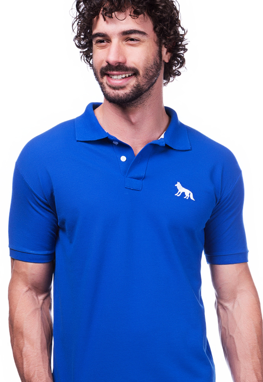 Camisa Gola Polo Acostamento Azul