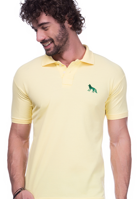 Camisa Polo Acostamento Amarela | Oferta