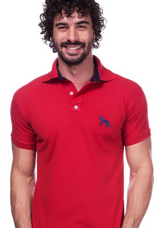 Camisa Gola Polo Acostamento Vermelha