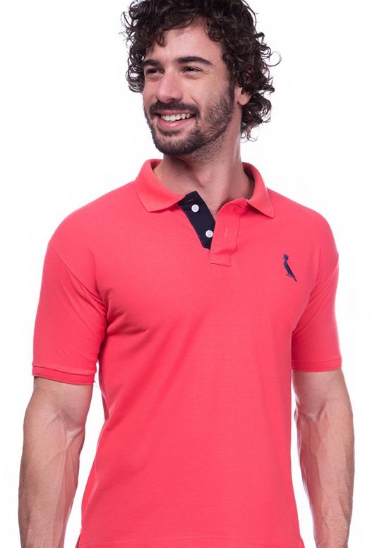 Camisa Gola Polo Reserva Rosa Escuro