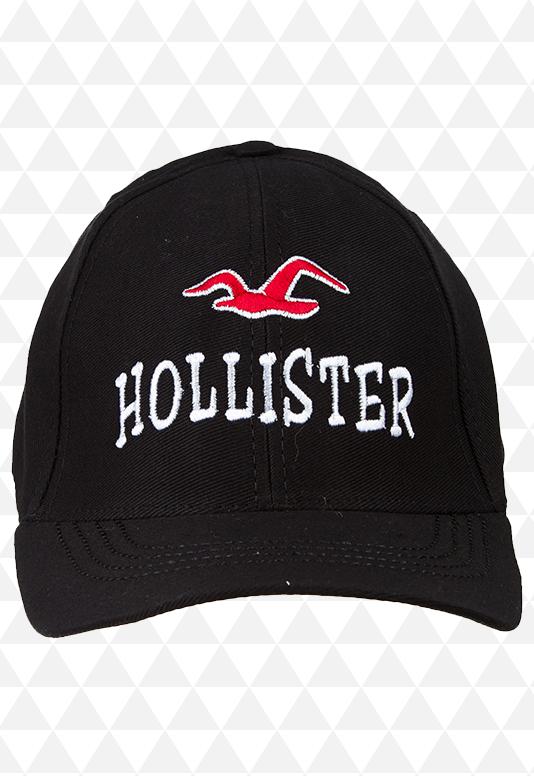 Boné Hollister Preto Aba Curva