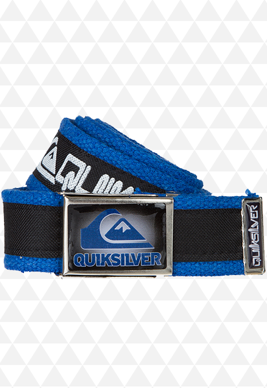 Cinto de Pano Preto e Azul da QuikSilver