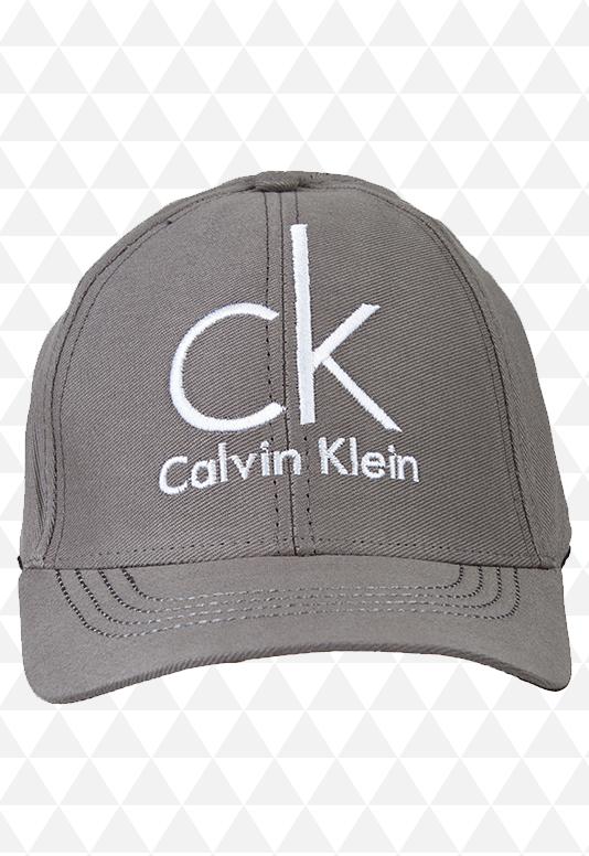 Boné Calvin Klein Cinza - Aba Curva