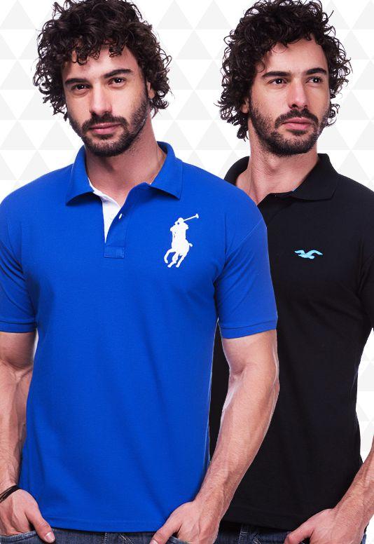 Kit 10 Camisas Polo Masculinas