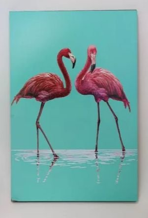 QUADRO DECORATIVO FLAMINGO - 20x30