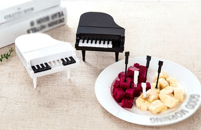 GARFO PARA PETISCO PIANO - PRETO