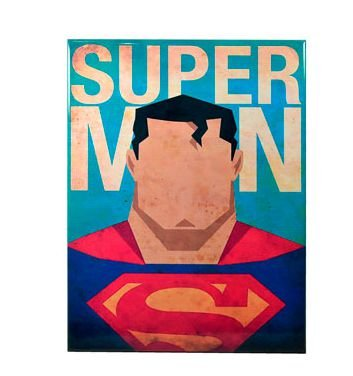 PLACA DECORATIVA SUPER HOMEM - METAL