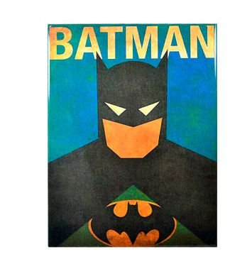 PLACA DECORATIVA BATMAN - METAL