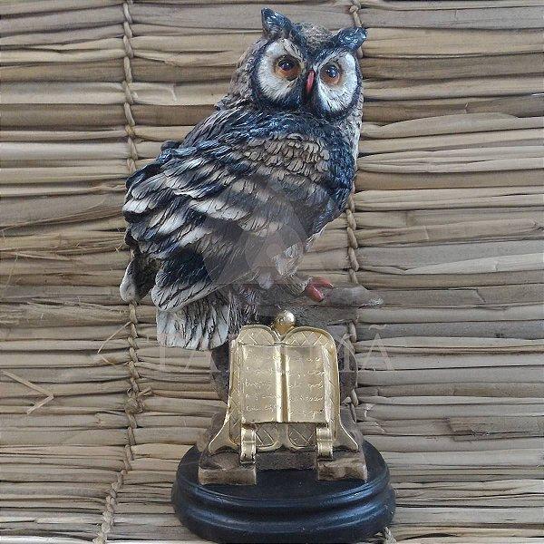 Coruja Estatua Decoração Simbolo Sabedoria 35 Cm