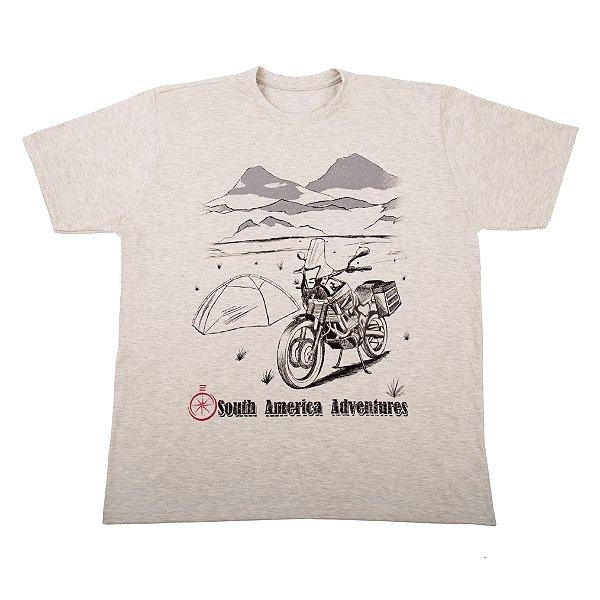 Camiseta Masculina América do Sul - Motociclista