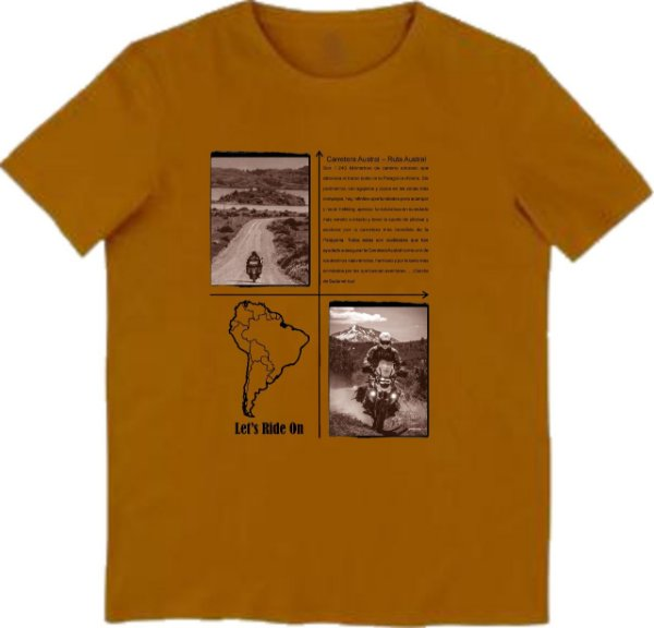 Camiseta Masculina Carretera AUSTRAL Let´s Ride On