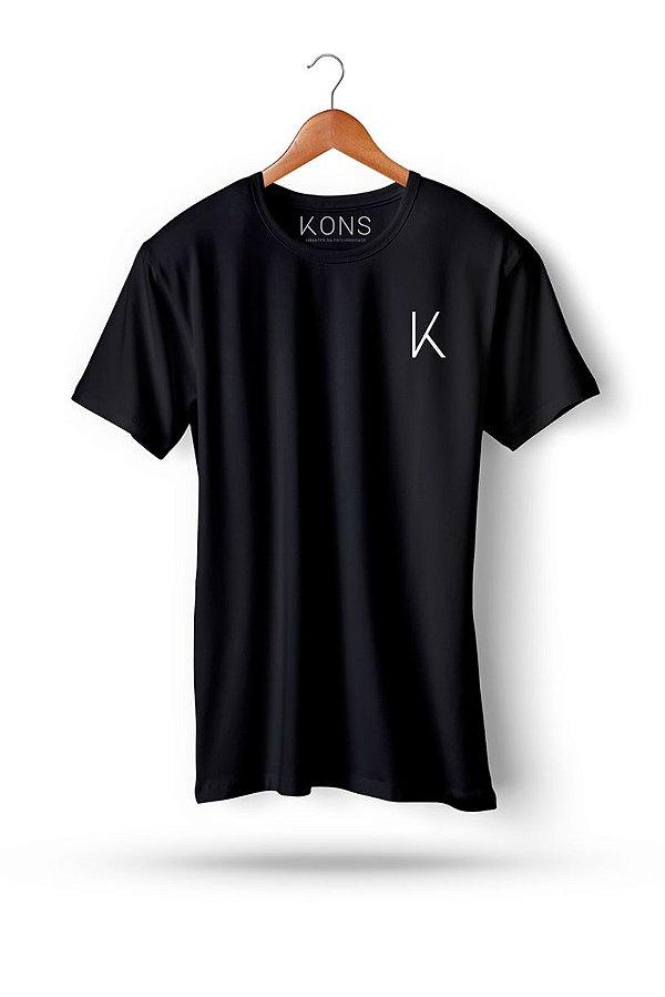 51fb2c571 Camiseta Longline Signature Preta - KONS