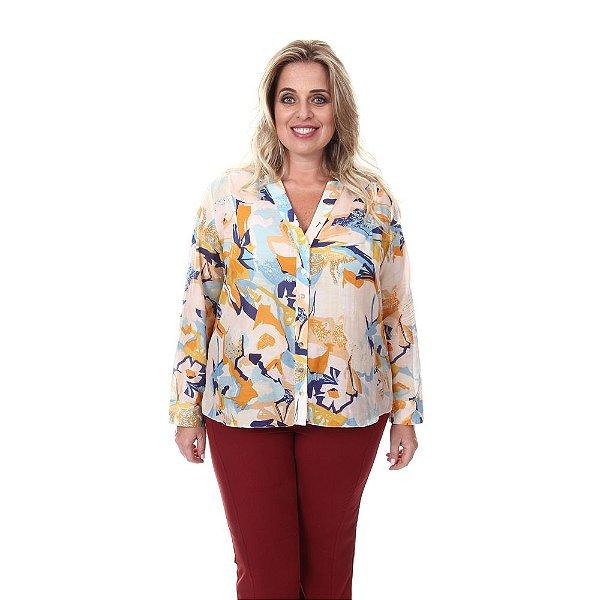 Camisa Plus Size Alice - Estampa Floral | Loulic