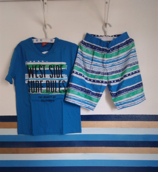 7e204a7fd Conjunto Camisa e Bermuda West Side Kyly - Buju Baby & Kids