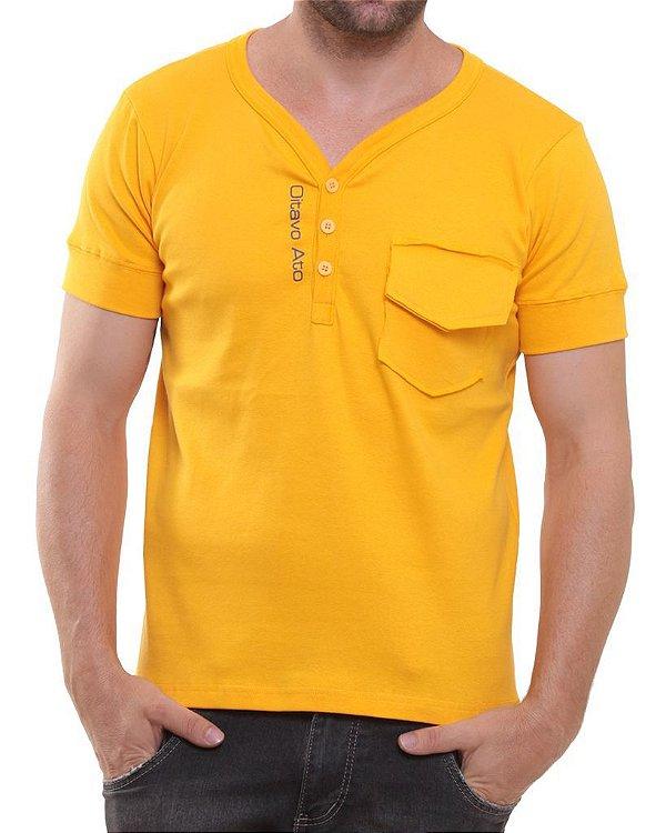 Camiseta Oitavo Ato Henley Amarelo