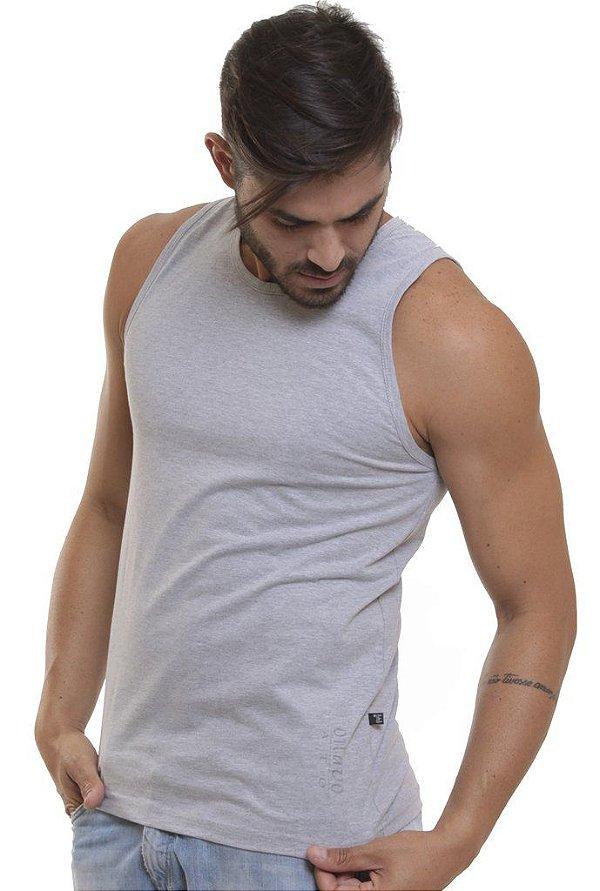 Camiseta Regata Oitavo Ato Cinza Mescla