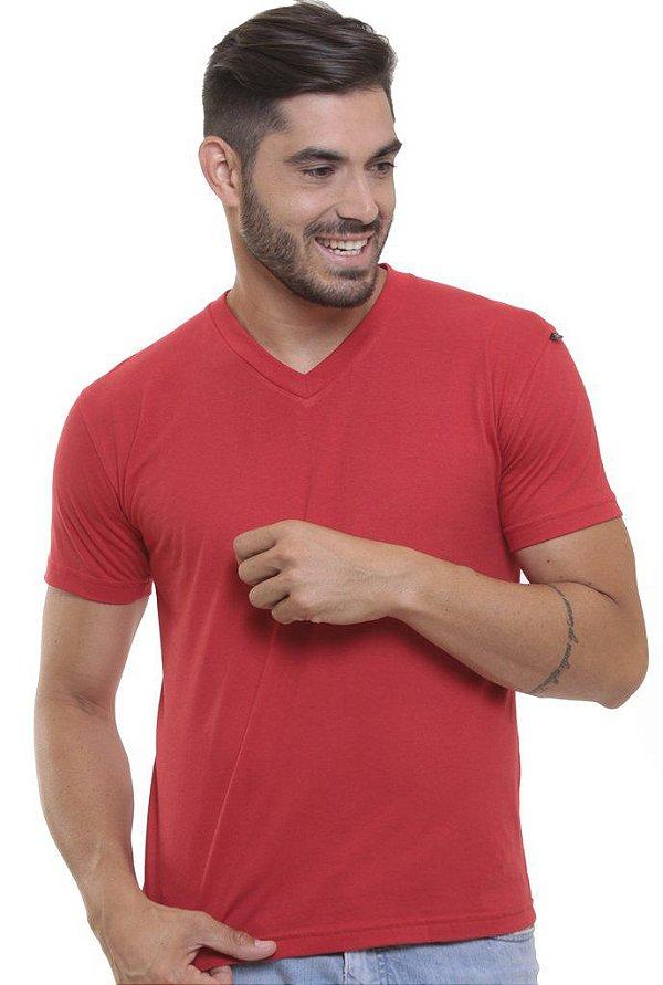 Camiseta Decote V Oitavo Ato Vermelho