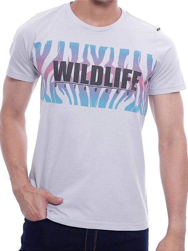 Camiseta Oitavo Ato Wildlife Cinza