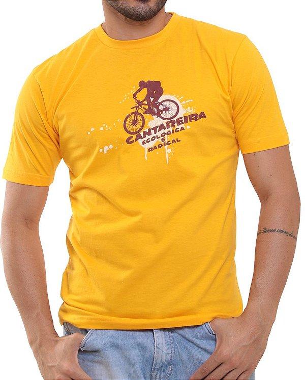 Camiseta Básica Oitavo Ato Cantareira Bike Amarelo