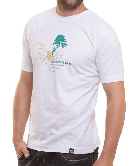 Camiseta Básica Oitavo Ato Cantareira Maior Floresta do Mundo Branco