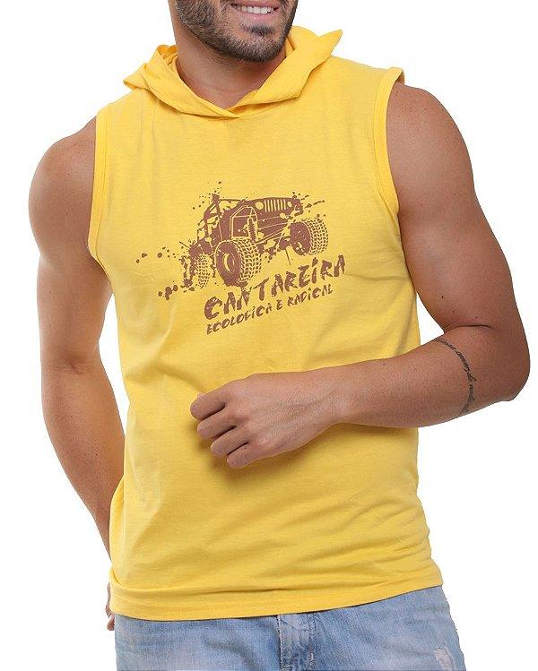 Camiseta Regata Oitavo Ato Cantareira Com Touca Jeep Amarelo