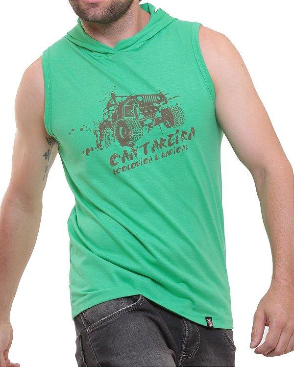 Camiseta Regata Oitavo Ato Cantareira Com Touca Jeep Verde