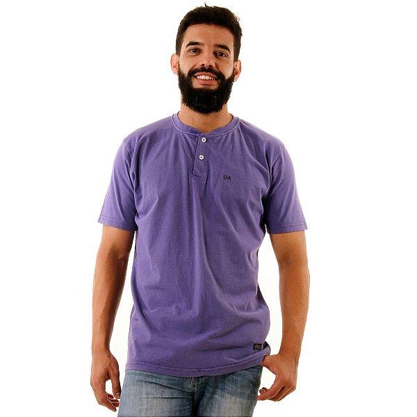 Camiseta Oitavo Ato Henley Roxo Stone
