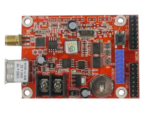 Placa Controladora TF-S6UW 2xHUB12 + 1xHUB08 + Antena Para Painel De LED K2551