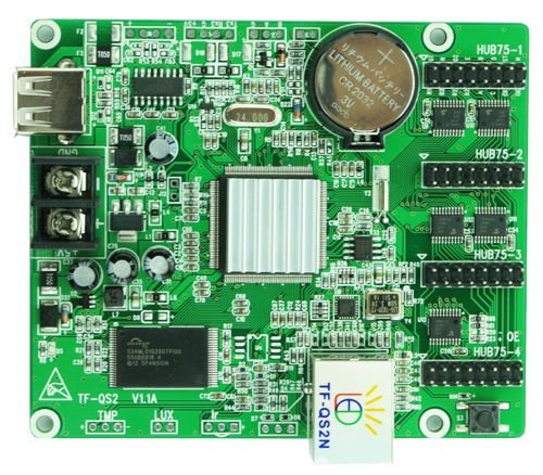 Placa Controladora TF-QS2N 4xHUB75 Para Painel De LED K2546