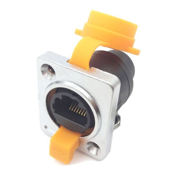 Conector RJ45 IP65 Fêmea 180° Para Painel (Tipo C) K2575