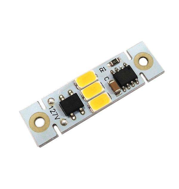 Módulo LED 2W Branco Quente 3000K com Driver Integrado 127VAC EXK2504