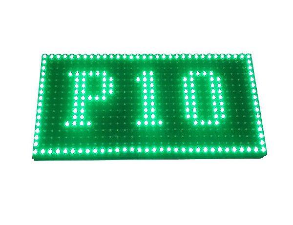 Modulo para Painel LED P10 Verde 32x16cm HUB12 P10(1R) Interno K2475
