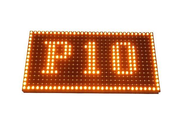 Modulo para Painel LED P10 Amarelo Ambar 32x16cm 1/4 Scan HUB12 P10(1R) Interno K2471