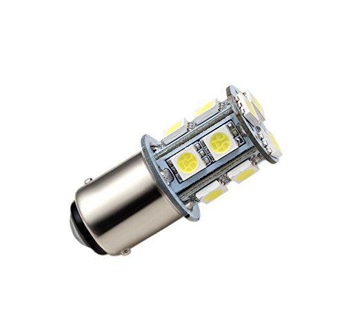 Lâmpada LED BA15S 1 pólo 13x LED 5050 12V 2.6W branca 6000K EXK2449