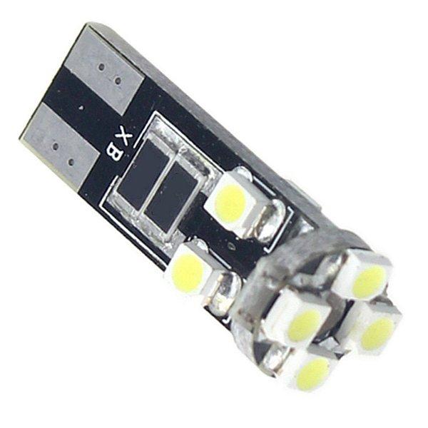 Lâmpada Pingo T10 W5W 8 LEDs 3528 Branco Canbus EXK2404