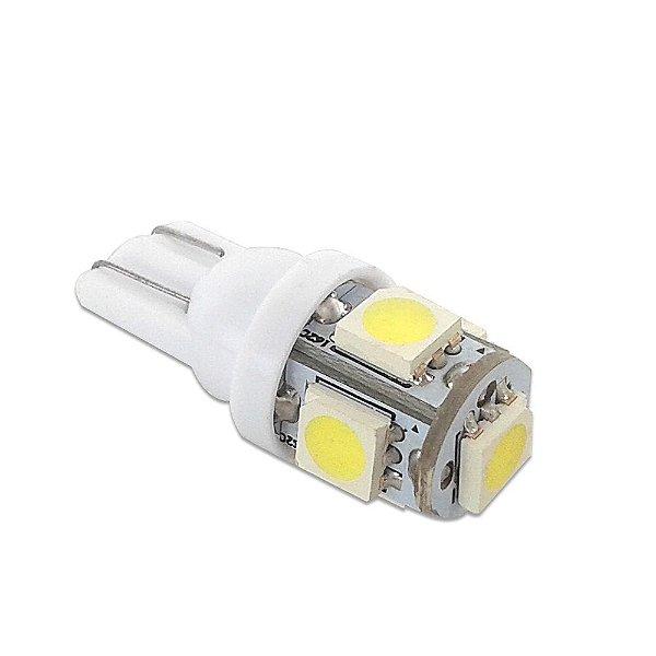 Lampada Pingo T10 5 LEDs 5050 W5W Branco Xenon EXK2402