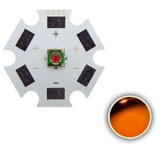 Power LED 1W Amarelo Ambar 585-595nm 3535 SMD K2363