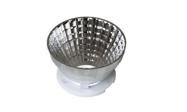 Refletor 60 Graus em Plástico Cromado Para LED CREE CXA25xx 50mm K2338
