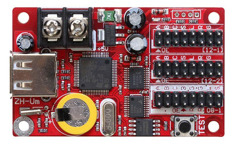 Placa Controladora ZH-UM 2xHUB12 1xHUB08 Para Painel De LED K2256