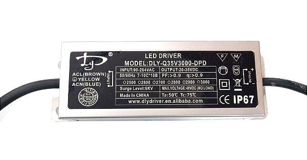 Fonte Driver para LED de 100W Bivolt IP67 K2251