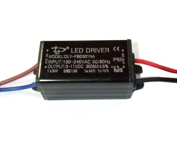 Fonte Driver Para 1 A 3 LEDs De 1W Bivolt IP67 K2239