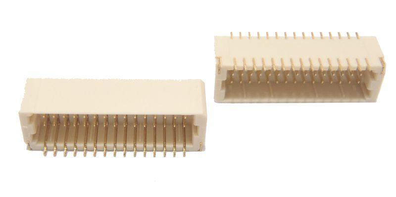 Conector Macho 2X15 Vias 180 graus B0130