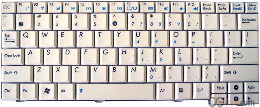 Teclado Asus Eeepc Mk90h Branco Po K0567
